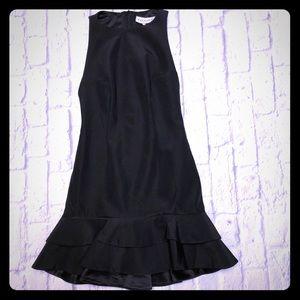 Keepsake The Label Black Shift Dress W Ruffle Hem